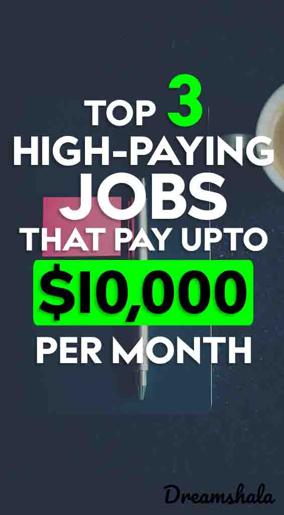top 3 high-paying jobs that pay full-time income