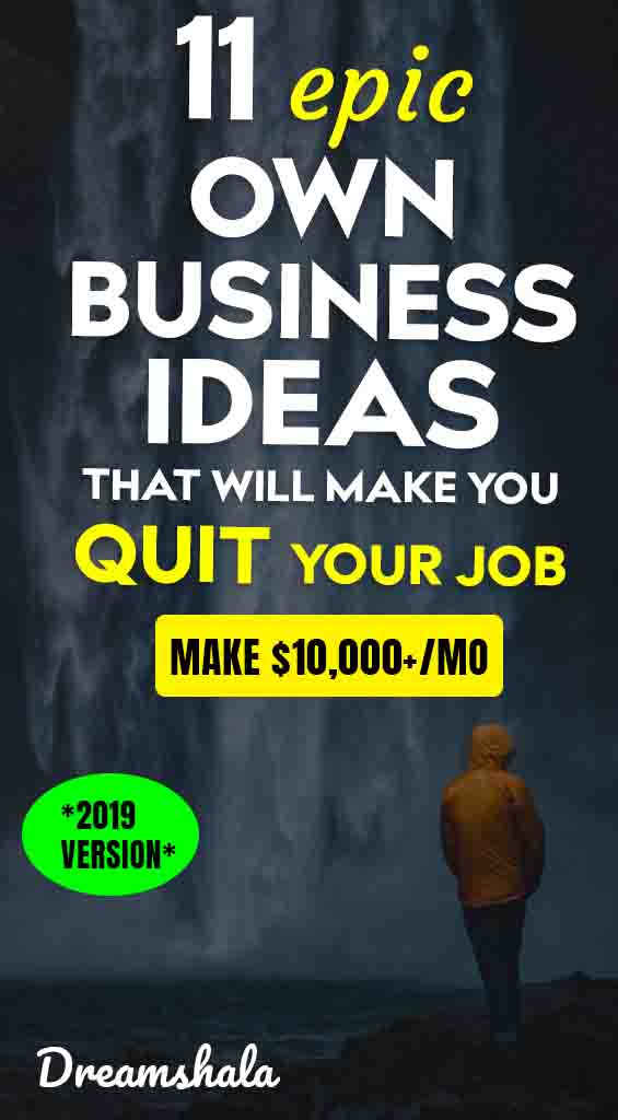 11 epic own business ideas that will make you quit your blog