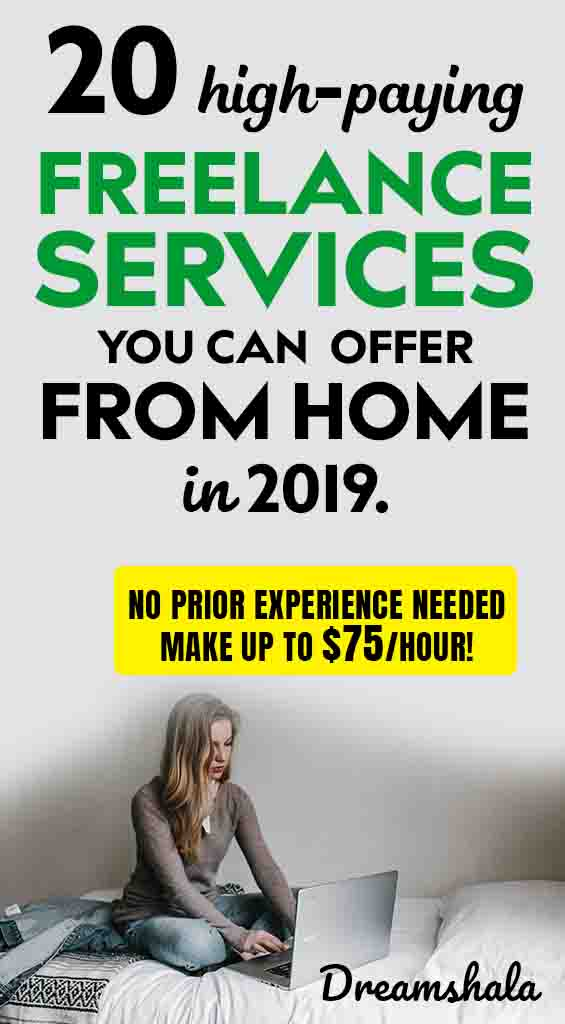 20 high-paying freelance services you can offer from home in 2019