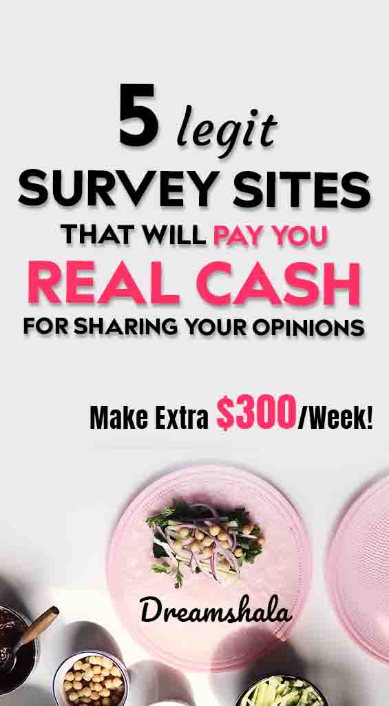 5 legit survey sites that will pay well