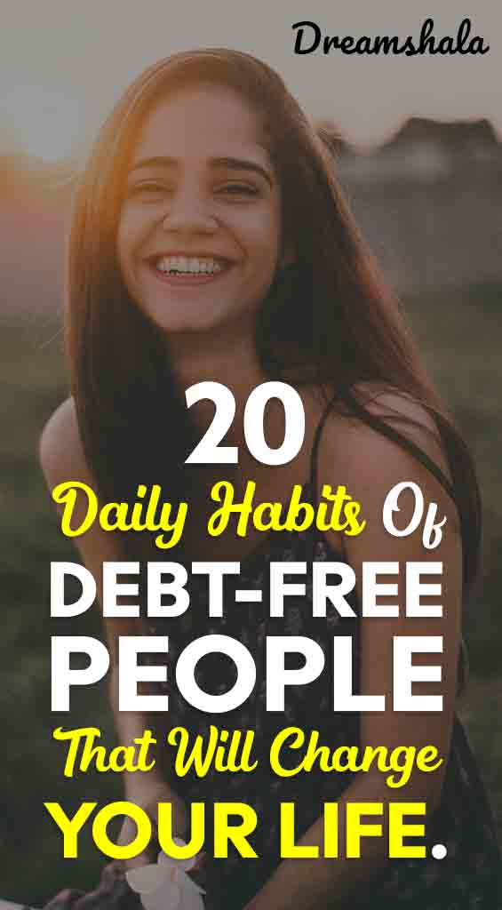 20 daily habits of debt-free people