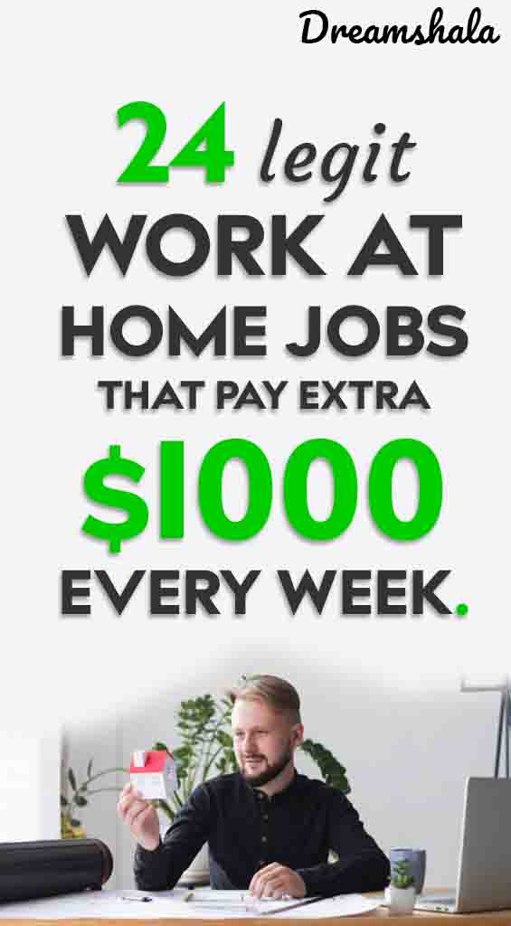 24 legit work at home jobs that pay weekly
