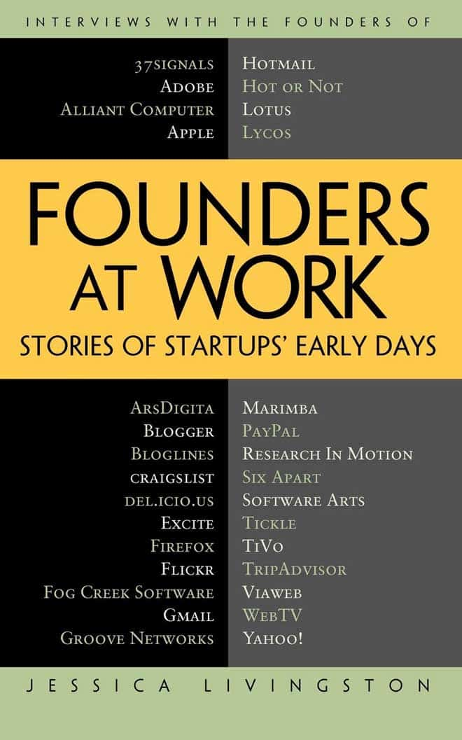 founders at work - best business books