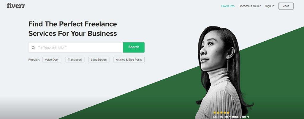 freelance jobs websites- fiverr