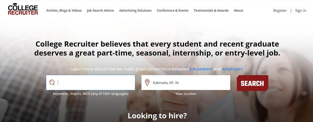 freelance job sites- ccollege recruiter