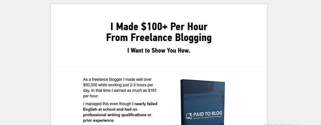 paid to blog - freelance job sites
