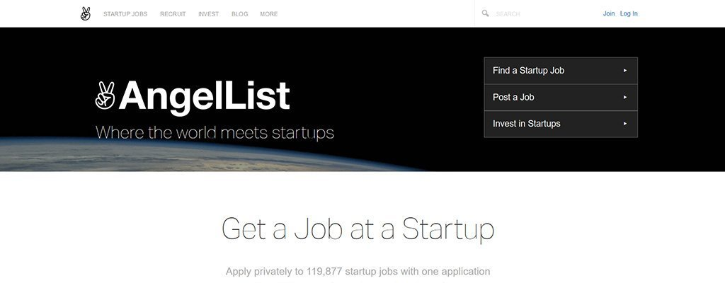 angellist - freelance job sites