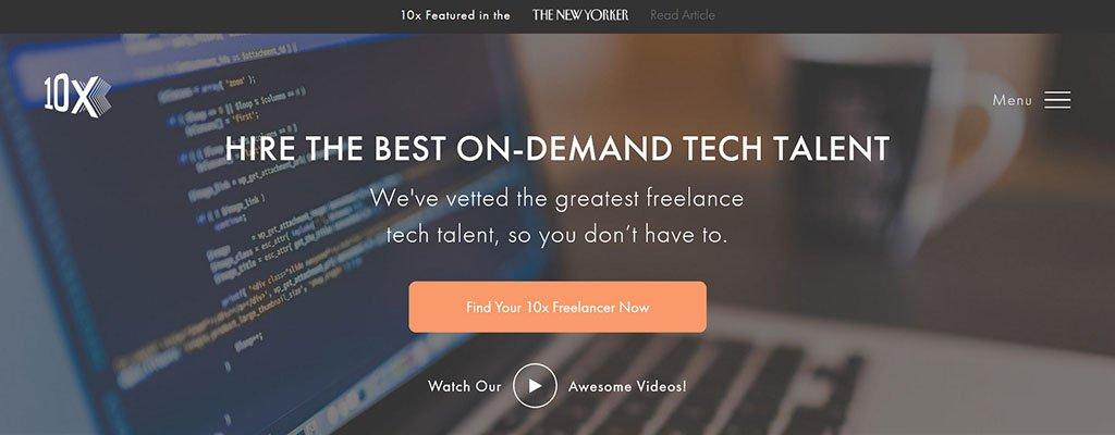 10x management - freelance job sites