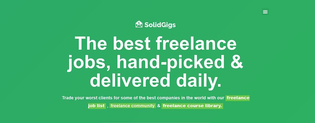 freelance jobs - solid gigs