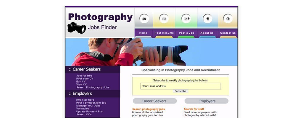 photography jobs finder